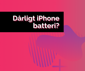 dårligt iphone batteri